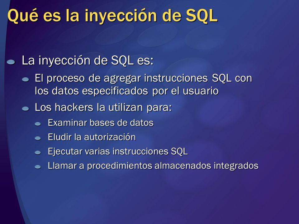 Qué es la inyección de SQL