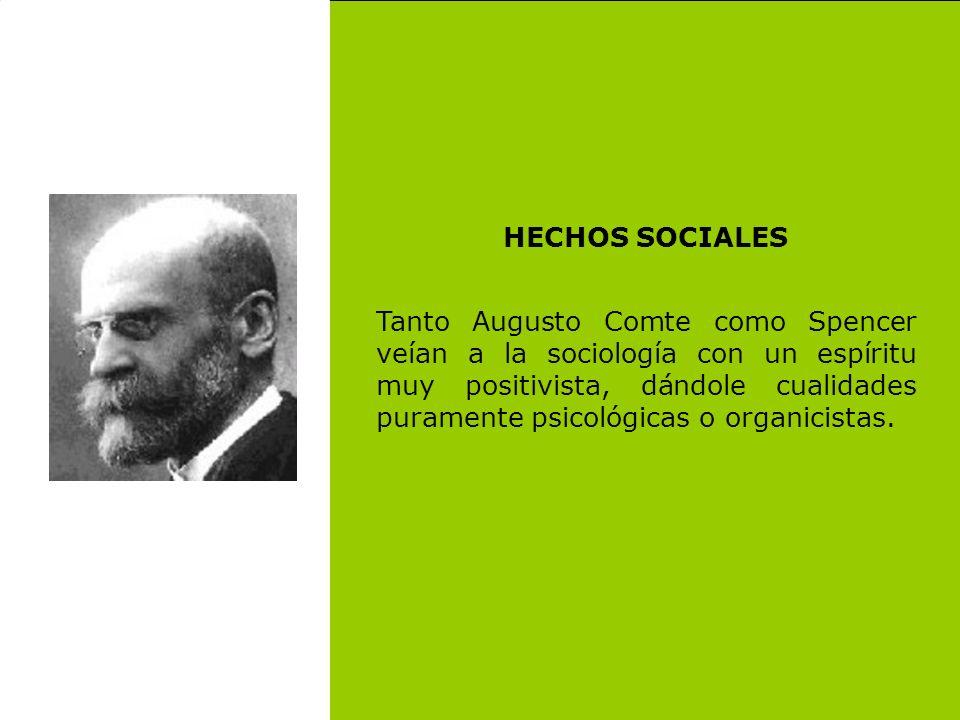 HECHOS SOCIALES