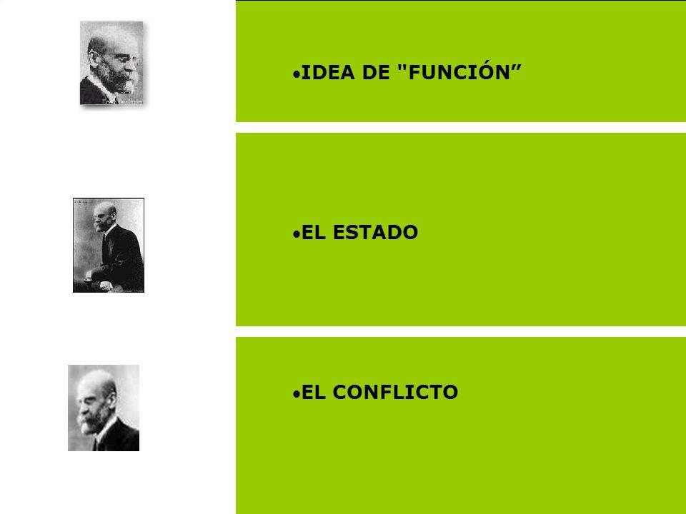 IDEA DE FUNCIÓN EL ESTADO EL CONFLICTO