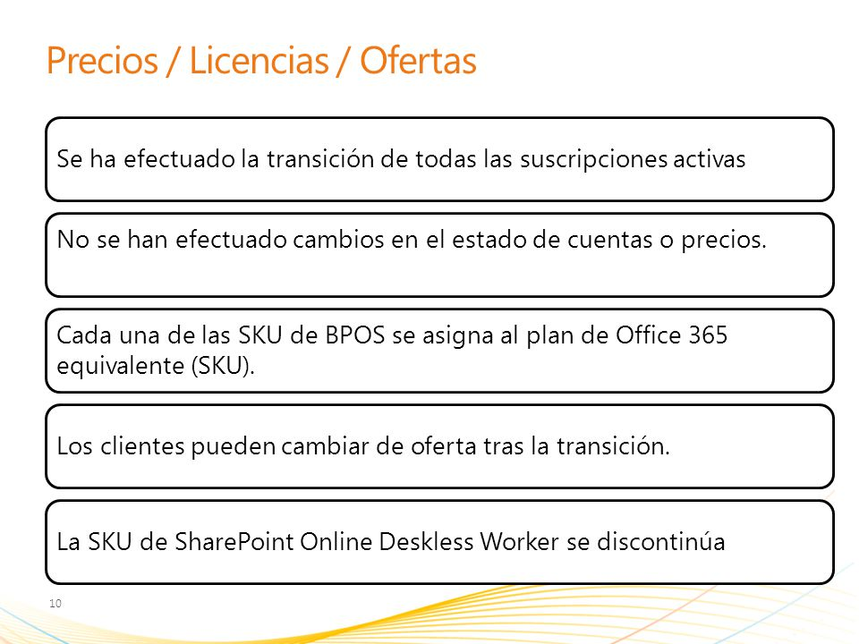Precios / Licencias / Ofertas