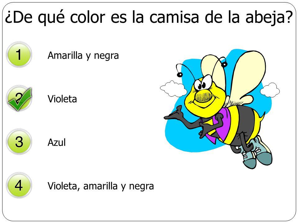 ¿De qué color es la camisa de la abeja
