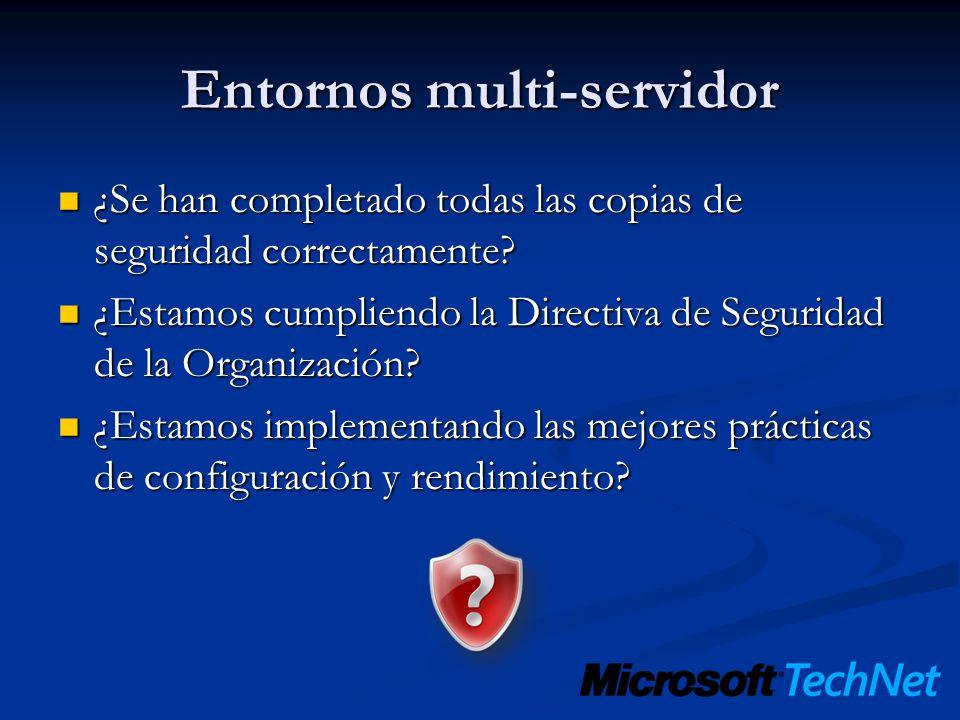 Entornos multi-servidor