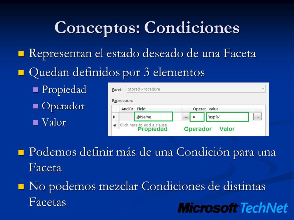 Conceptos: Condiciones