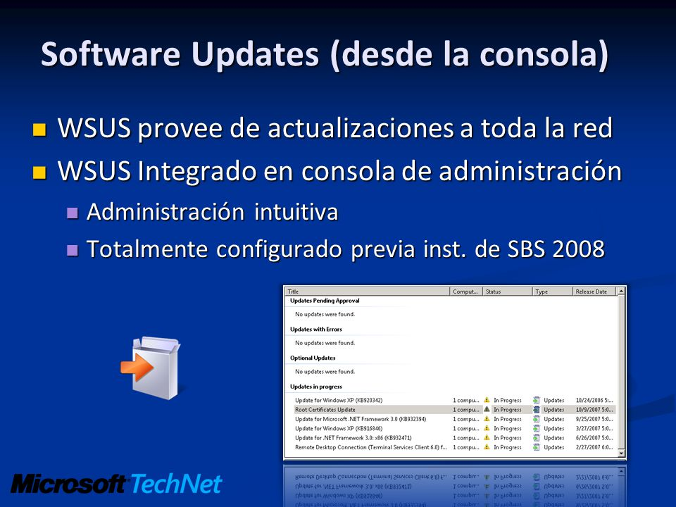 Software Updates (desde la consola)