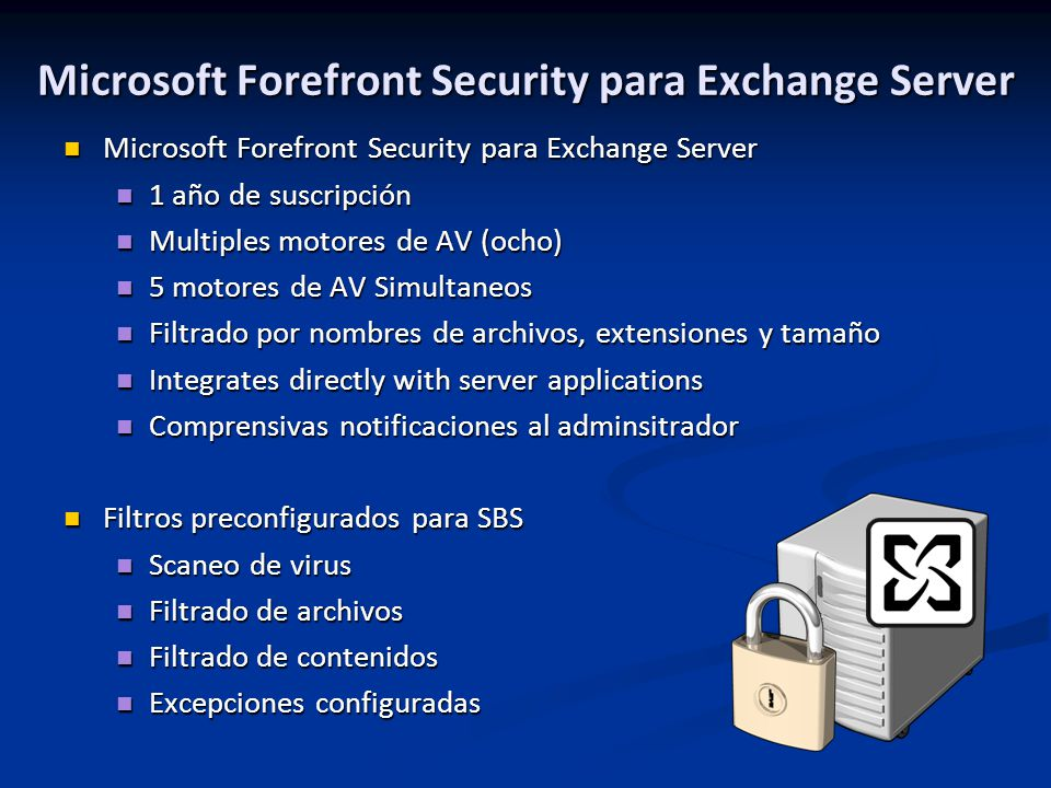 Microsoft Forefront Security para Exchange Server