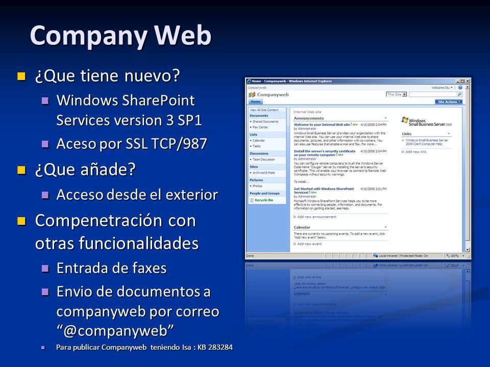 Company Web ¿Que tiene nuevo ¿Que añade