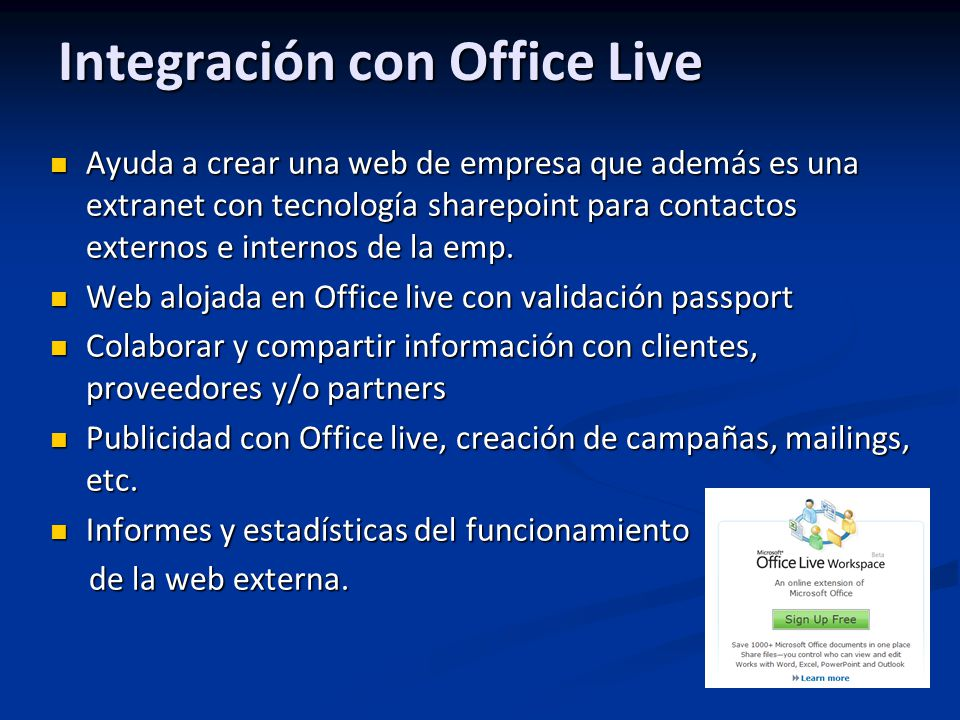 Integración con Office Live