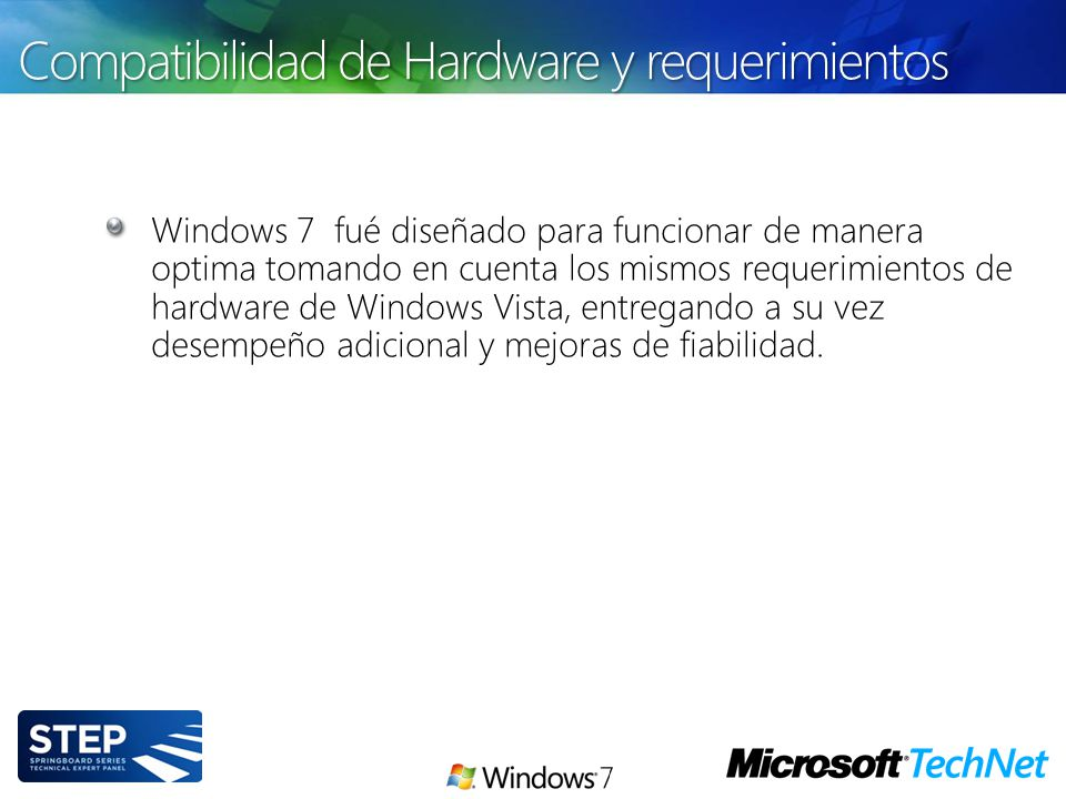 Compatibilidad de Hardware y requerimientos