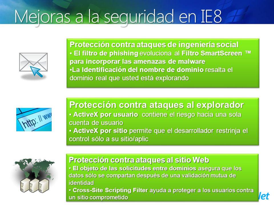 Mejoras a la seguridad en IE8