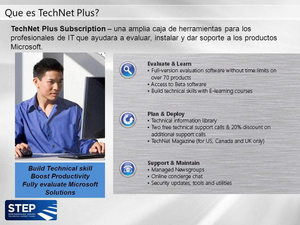 Que es TechNet Plus