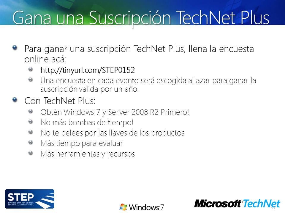 Gana una Suscripción TechNet Plus