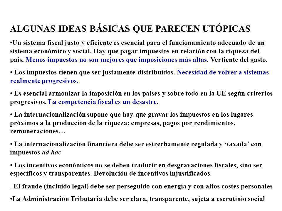 ALGUNAS IDEAS BÁSICAS QUE PARECEN UTÓPICAS