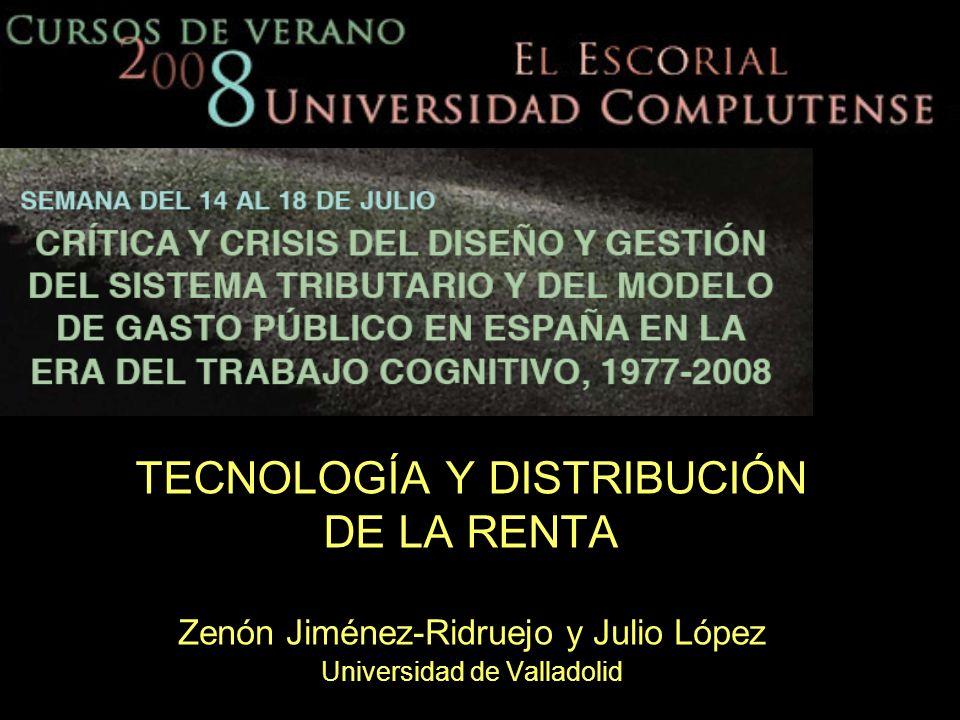 TECNOLOGÍA Y DISTRIBUCIÓN DE LA RENTA