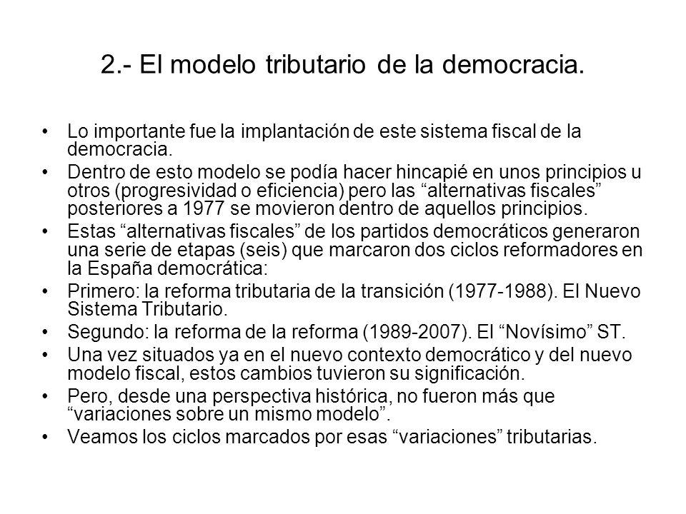 2.- El modelo tributario de la democracia.