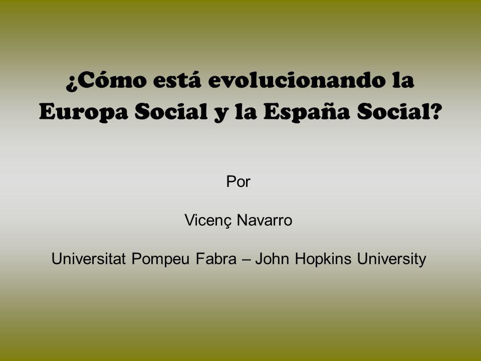 ¿Cómo está evolucionando la Europa Social y la España Social