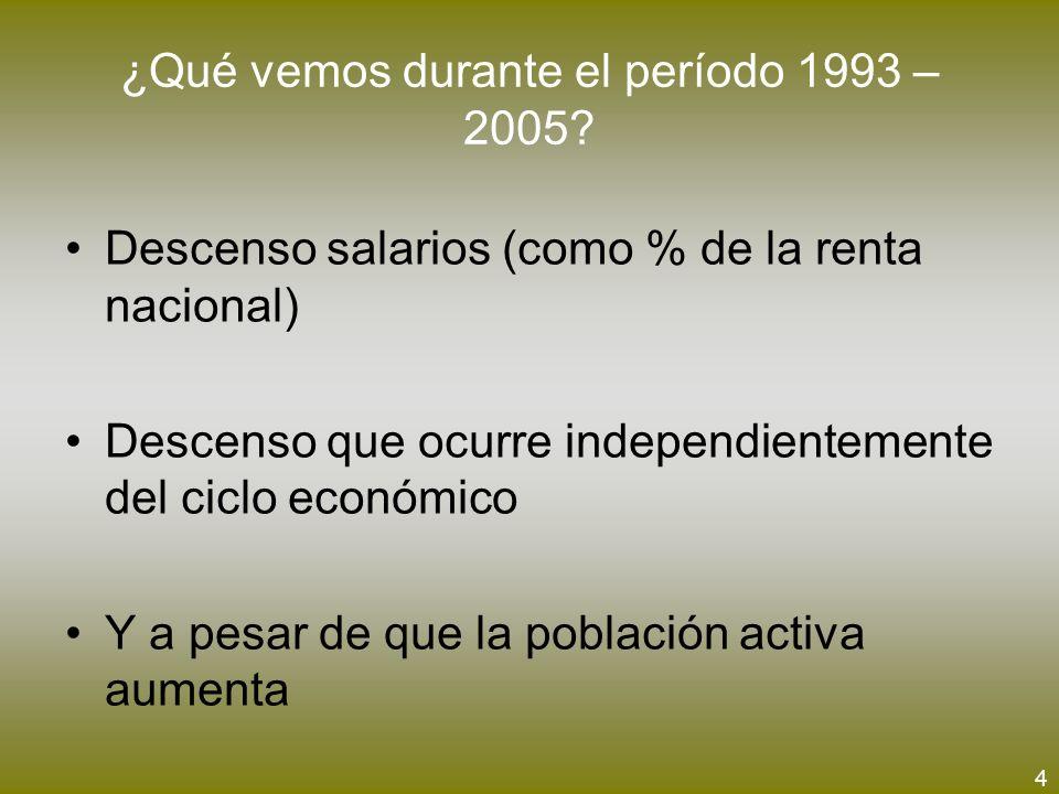 ¿Qué vemos durante el período 1993 – 2005