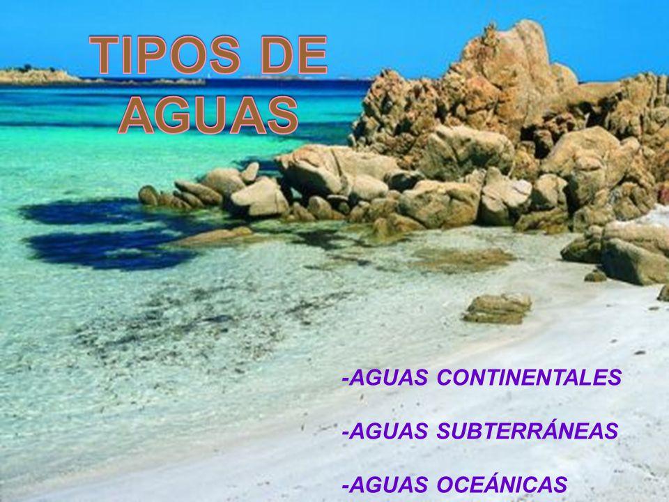 TIPOS DE AGUAS -AGUAS CONTINENTALES -AGUAS SUBTERRÁNEAS