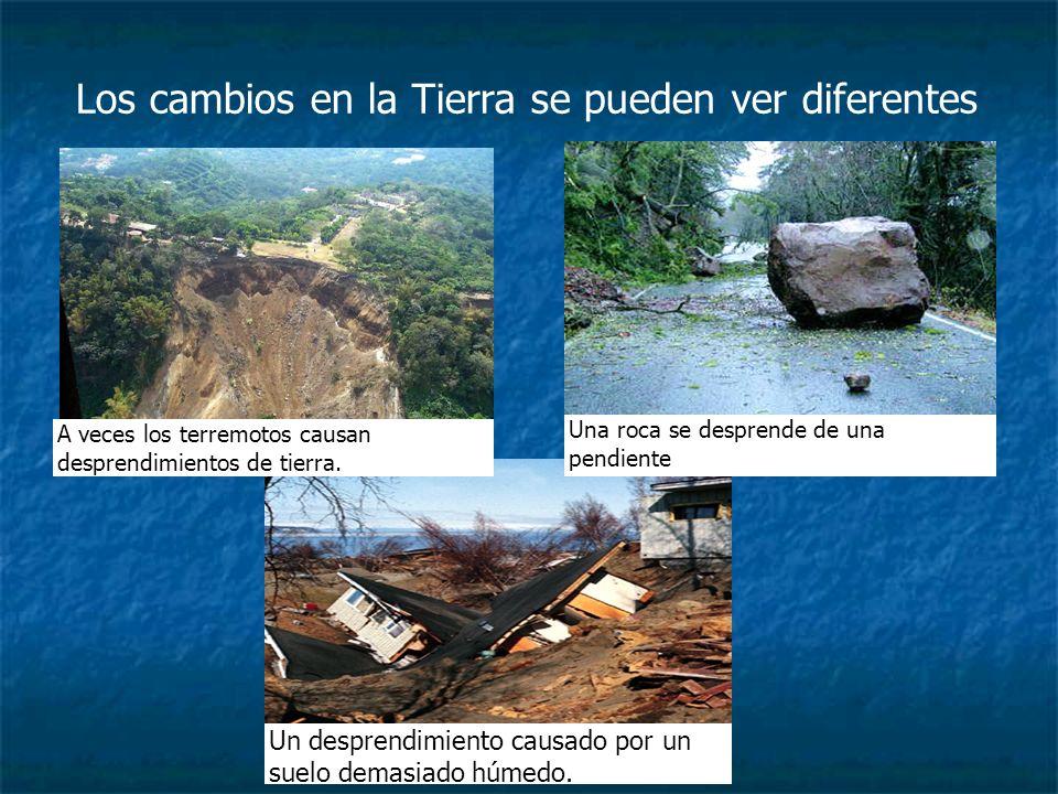 Los cambios en la Tierra se pueden ver diferentes