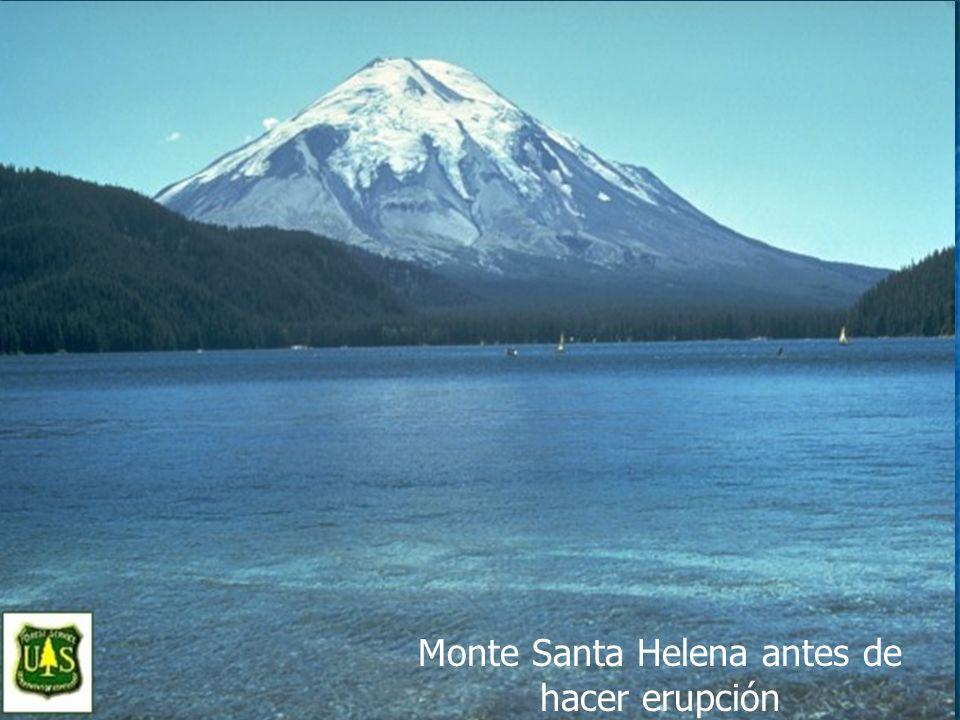 Monte Santa Helena antes de hacer erupción