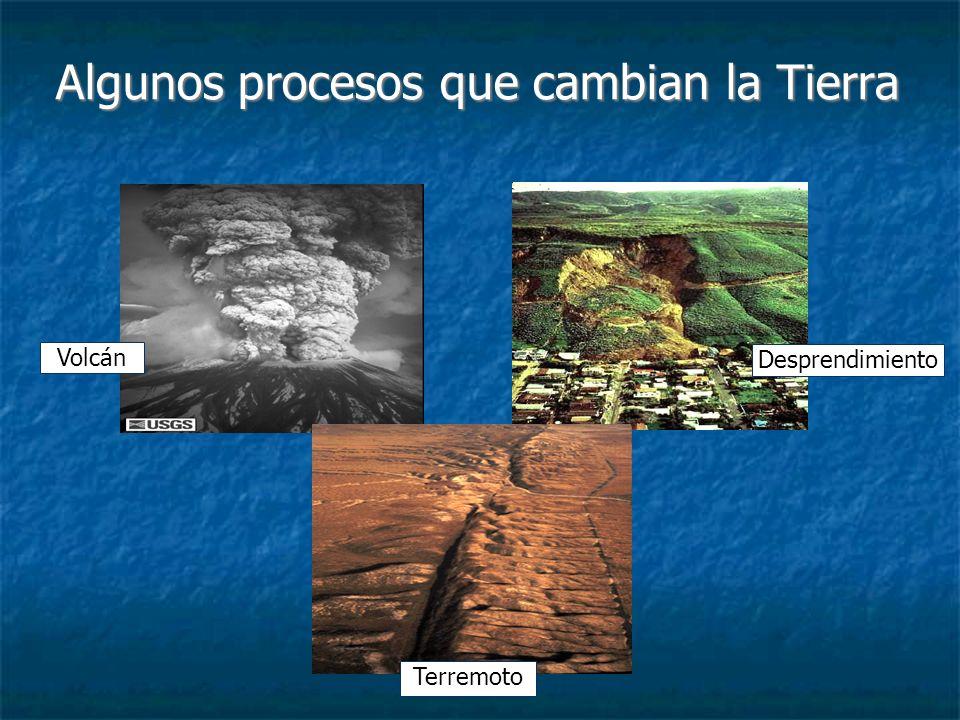 Algunos procesos que cambian la Tierra