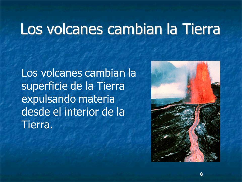 Los volcanes cambian la Tierra
