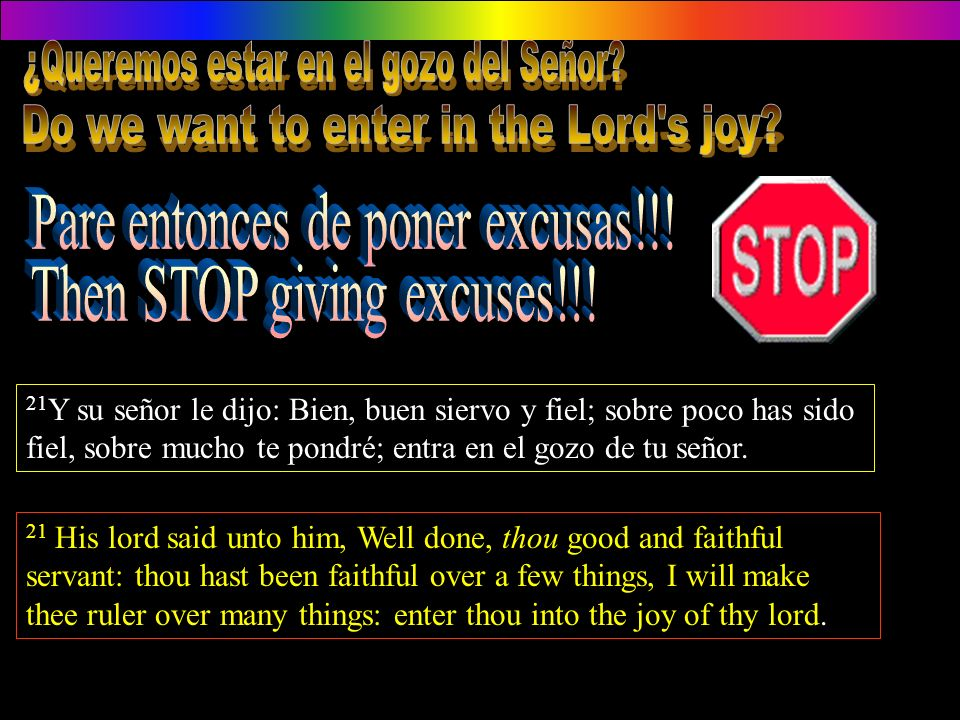 Do we want to enter in the Lord s joy