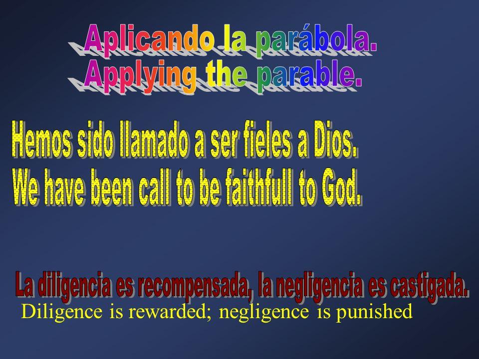 Aplicando la parábola. Applying the parable.