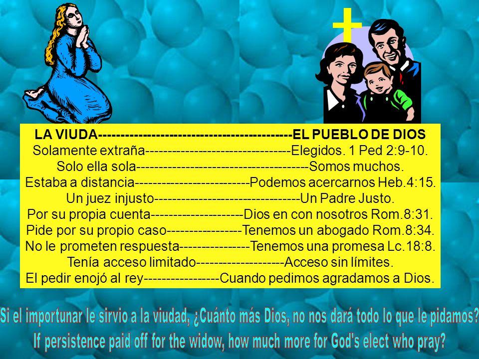 LA VIUDA--------------------------------------------EL PUEBLO DE DIOS
