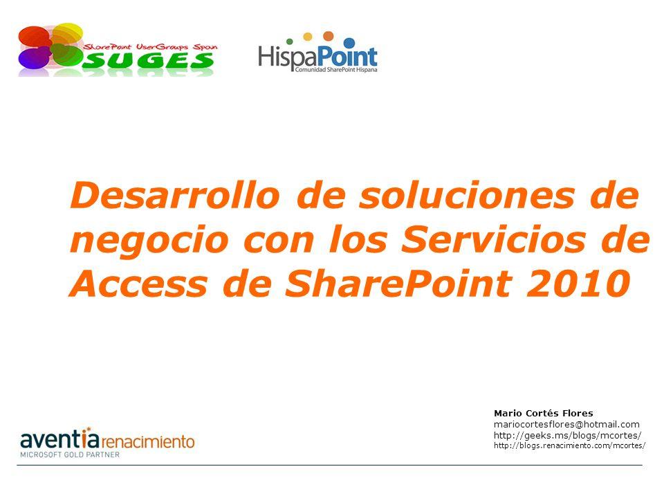 Desarrollo de soluciones de negocio con los Servicios de Access de SharePoint 2010