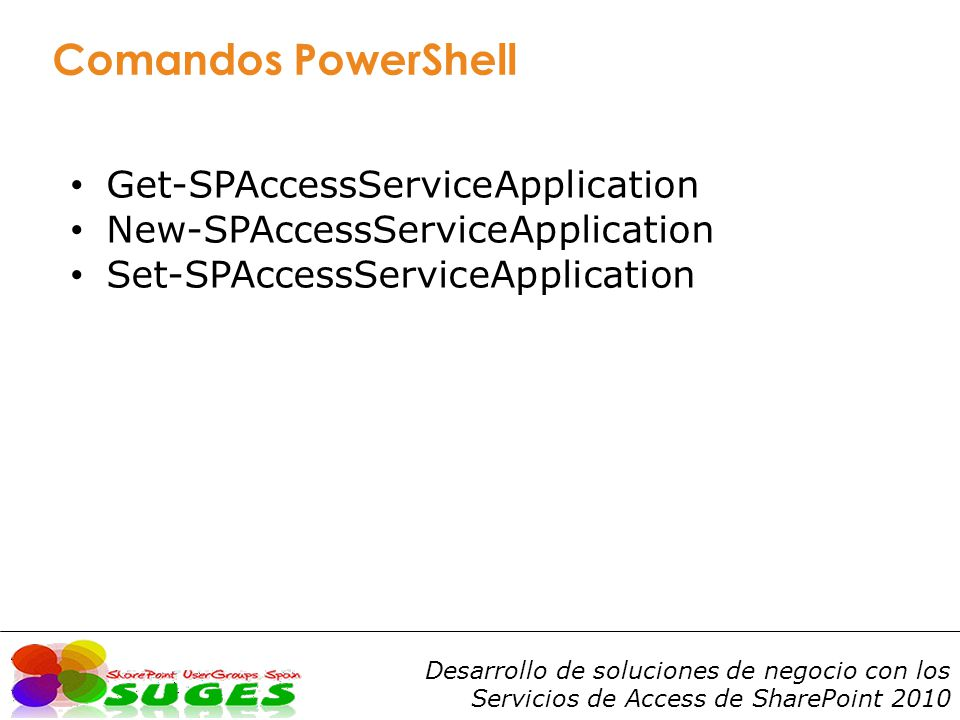 Comandos PowerShell Get-SPAccessServiceApplication