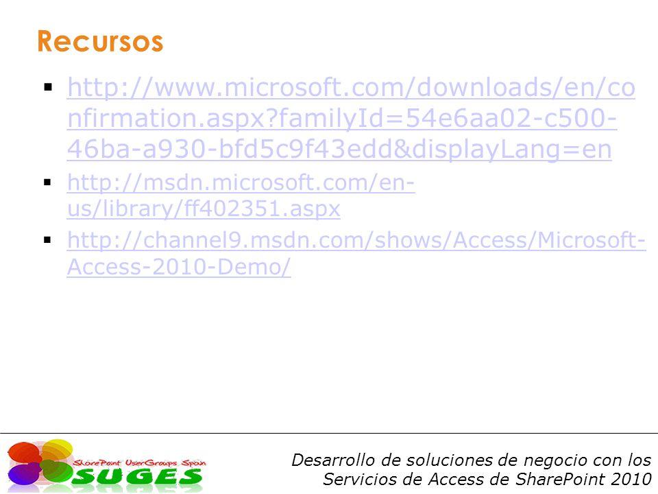 Recursos http://www.microsoft.com/downloads/en/confirmation.aspx familyId=54e6aa02-c500-46ba-a930-bfd5c9f43edd&displayLang=en.