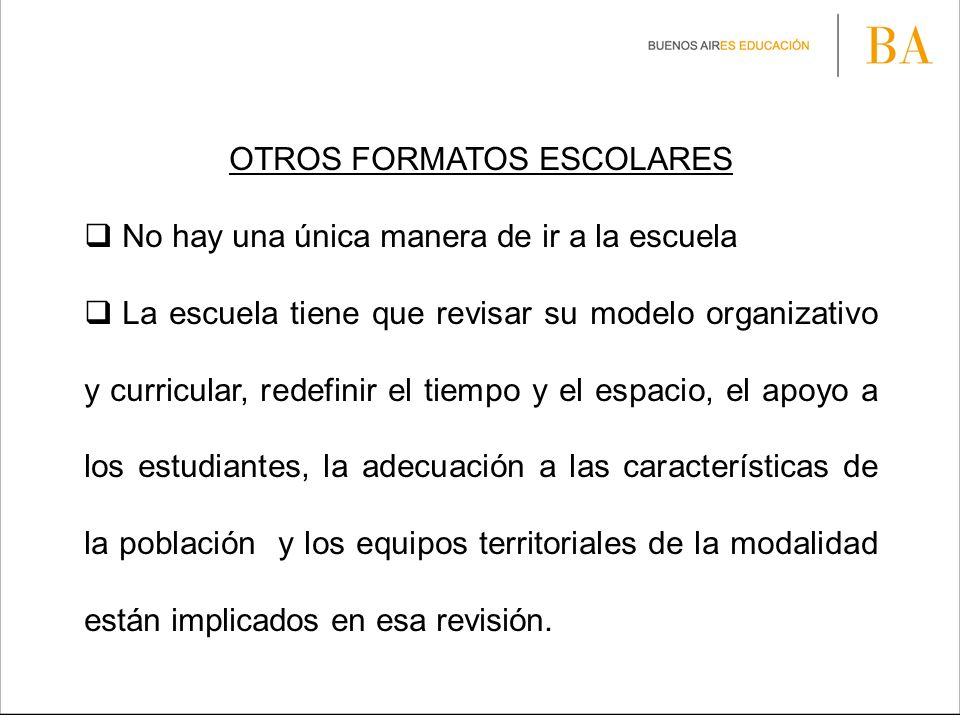 OTROS FORMATOS ESCOLARES