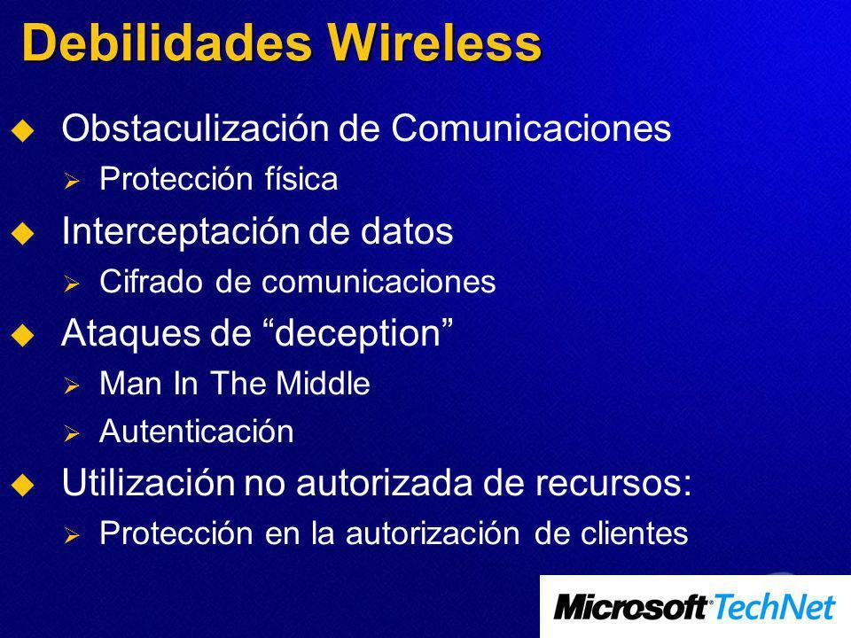 Debilidades Wireless Obstaculización de Comunicaciones