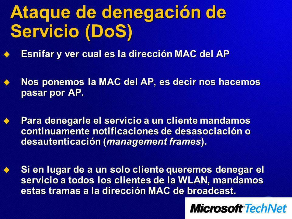 Ataque de denegación de Servicio (DoS)