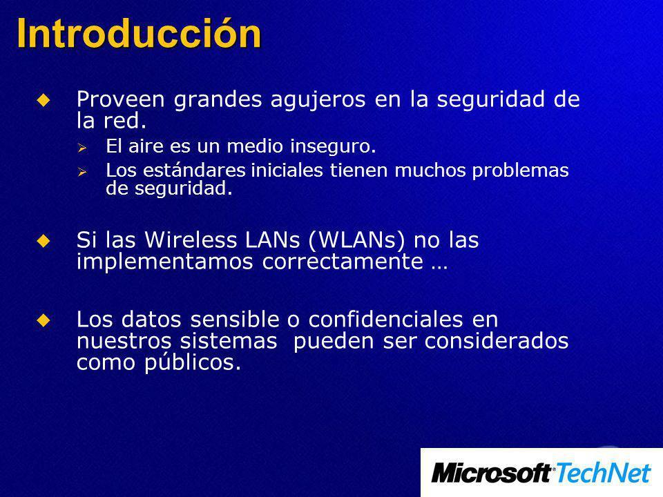 Introducción Proveen grandes agujeros en la seguridad de la red.