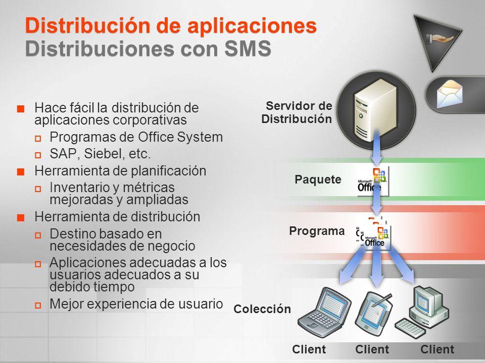 Distribución de aplicaciones Distribuciones con SMS