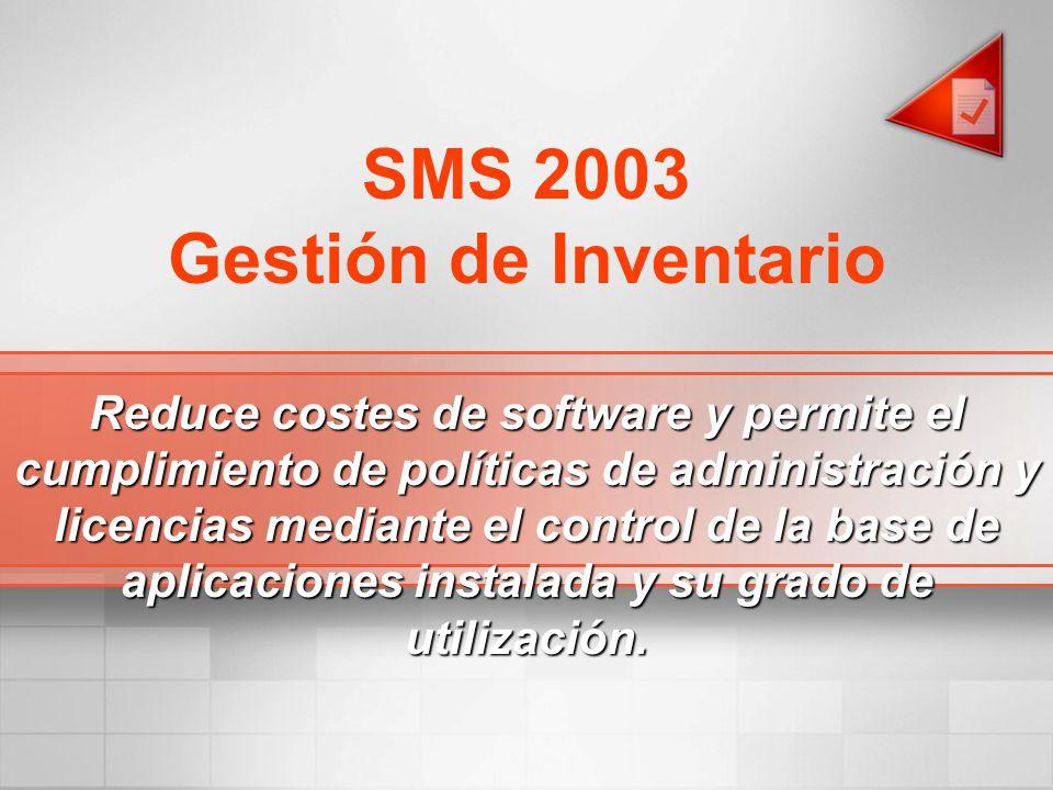 SMS 2003 Gestión de Inventario