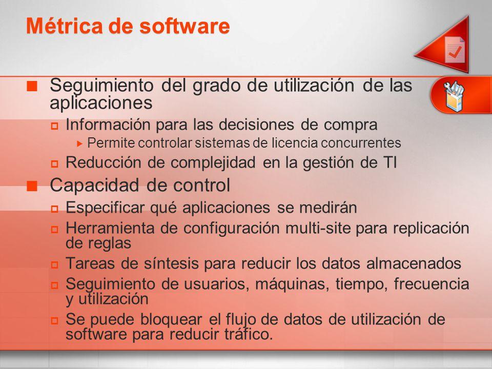 4/1/2017 7:08 PM Métrica de software. Seguimiento del grado de utilización de las aplicaciones. Información para las decisiones de compra.