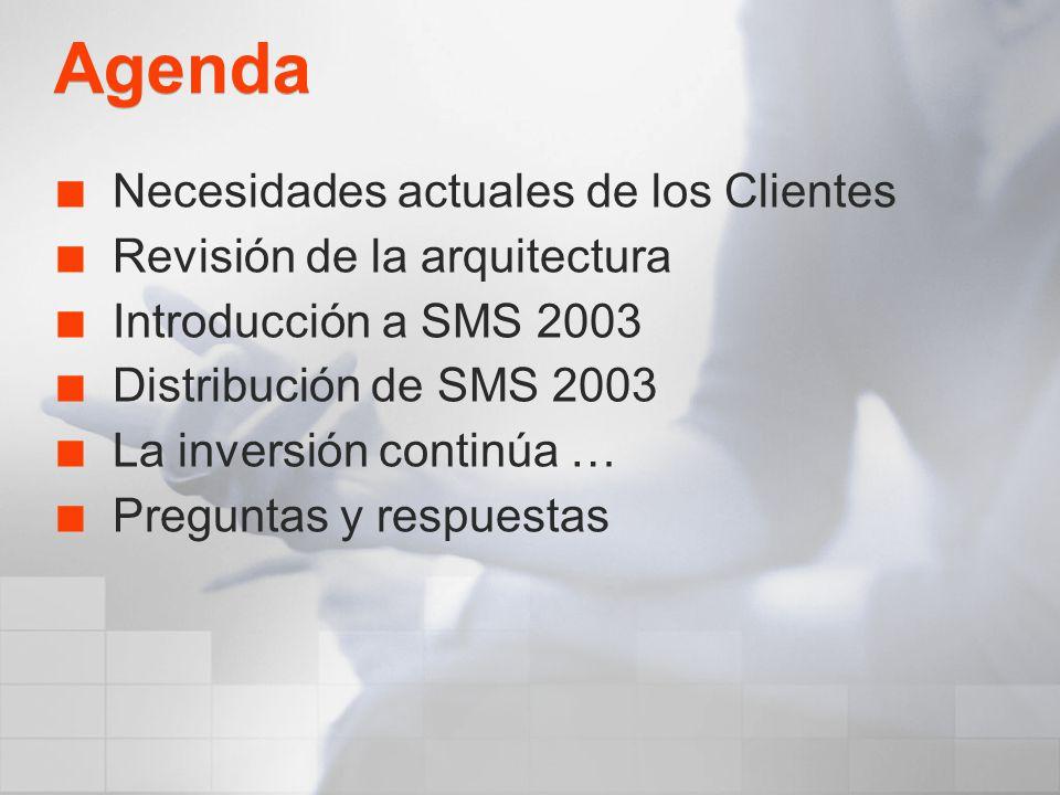 Agenda Necesidades actuales de los Clientes