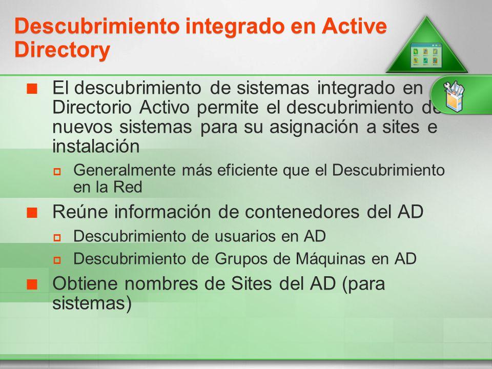 Descubrimiento integrado en Active Directory