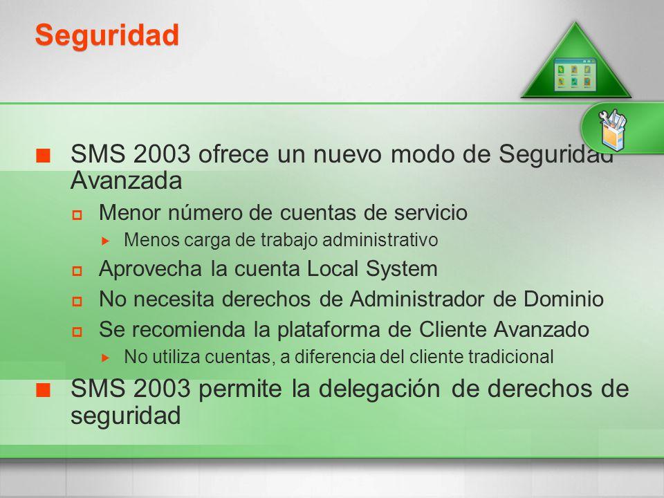 Seguridad SMS 2003 ofrece un nuevo modo de Seguridad Avanzada