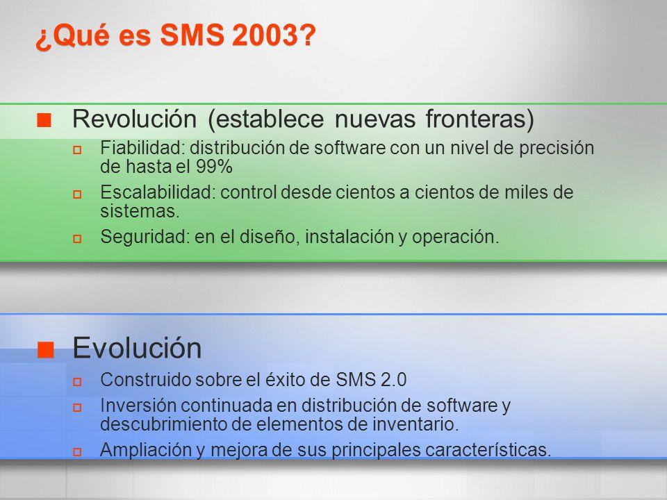 ¿Qué es SMS 2003 Evolución Revolución (establece nuevas fronteras)