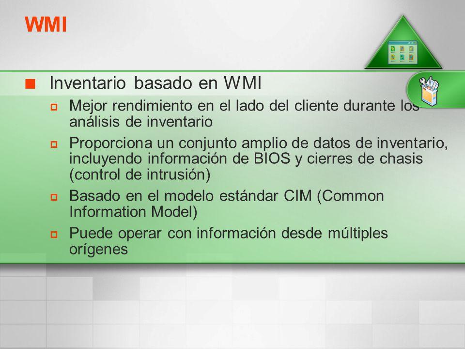 WMI Inventario basado en WMI