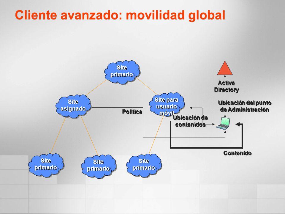 Cliente avanzado: movilidad global