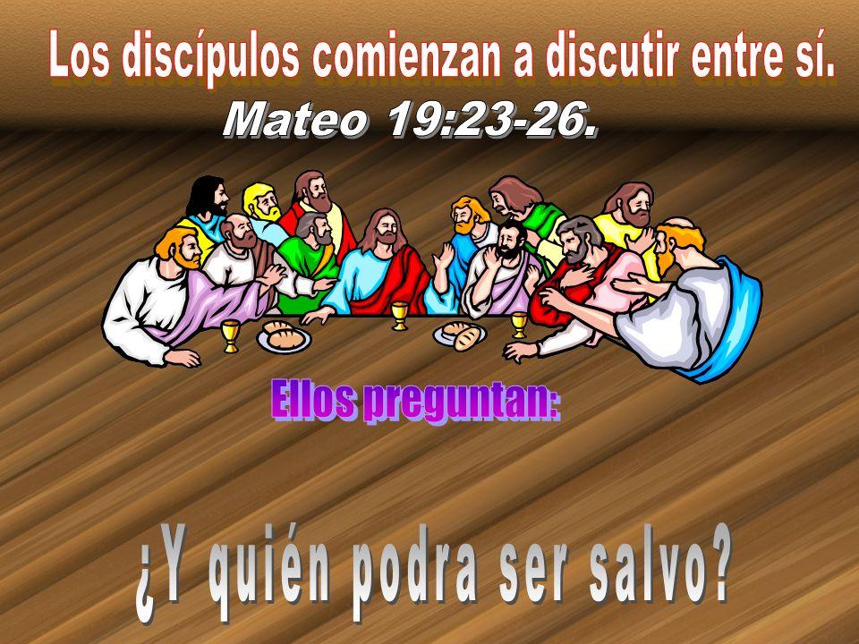 Los discípulos comienzan a discutir entre sí.