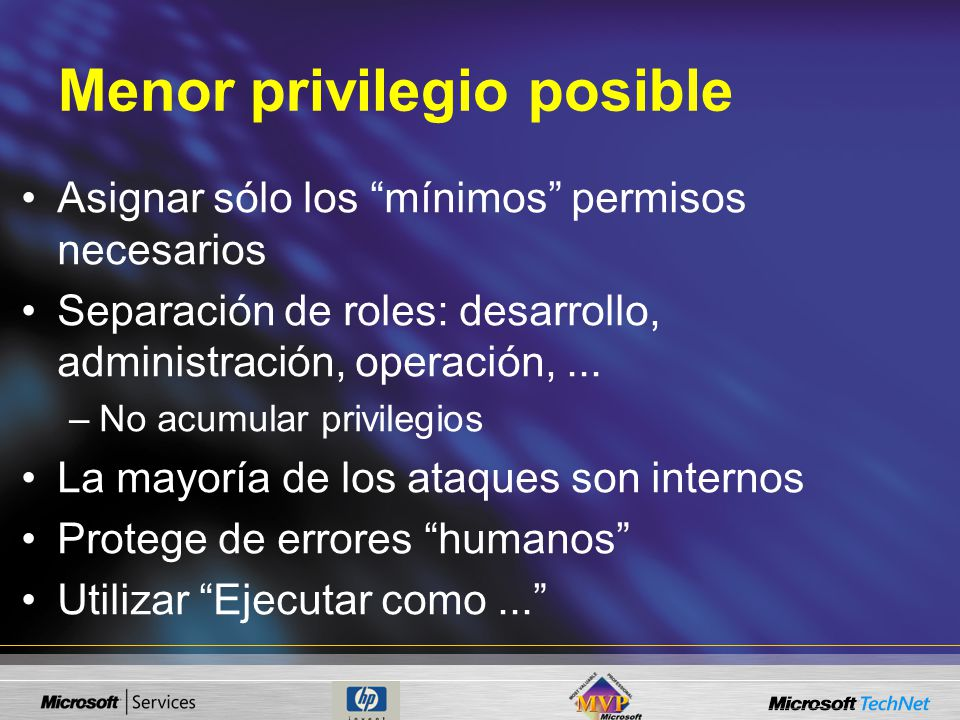 Menor privilegio posible