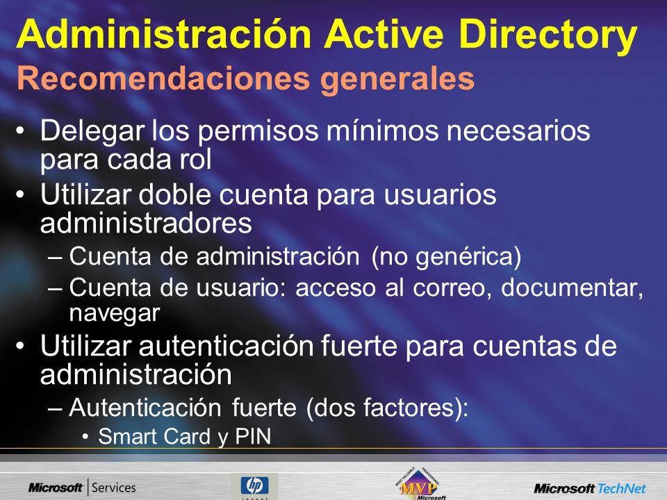 Administración Active Directory Recomendaciones generales