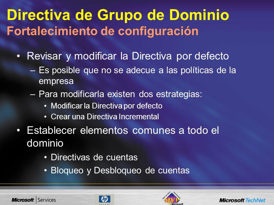 Directiva de Grupo de Dominio Fortalecimiento de configuración
