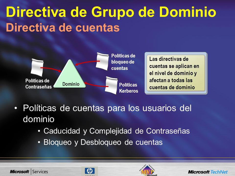 Directiva de Grupo de Dominio Directiva de cuentas