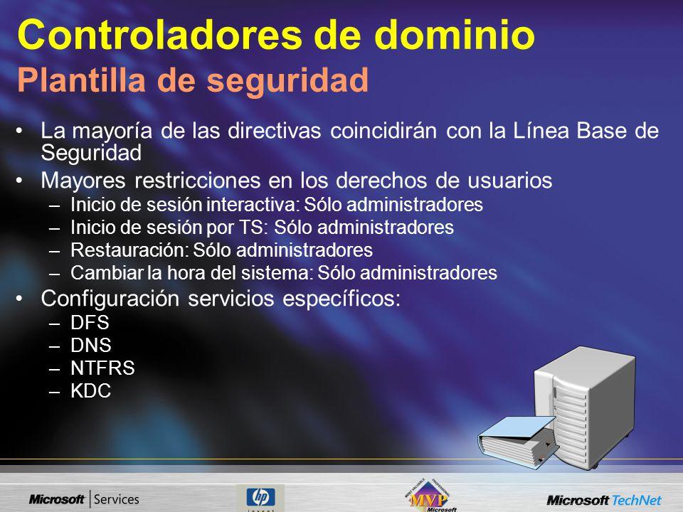 Controladores de dominio Plantilla de seguridad